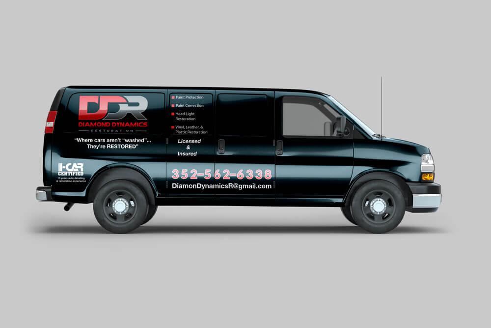 Diamond Dynamics Restoration Vehicle Wrap