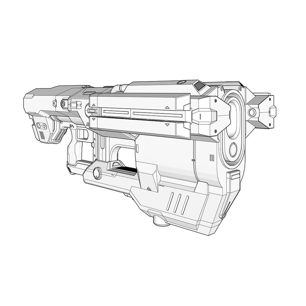 BFG9000 Technical Illustration