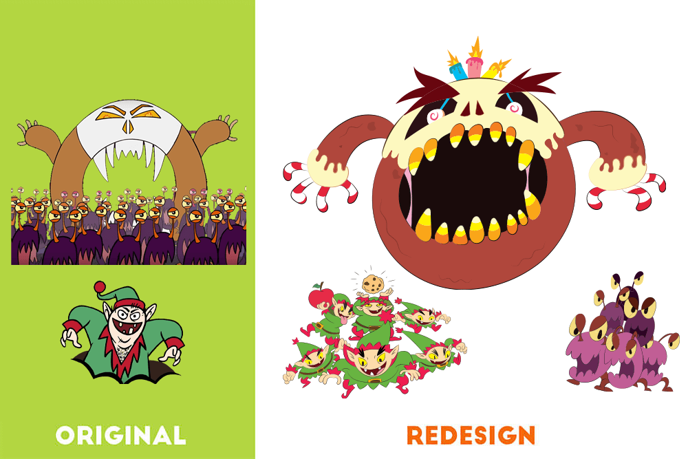 Chunky & Friends Redesigned Characters