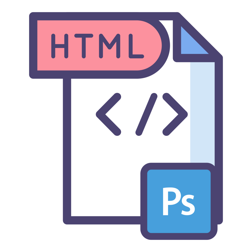 Psd to HTML Icon
