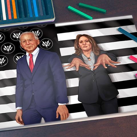 Biden/Harris Illustration