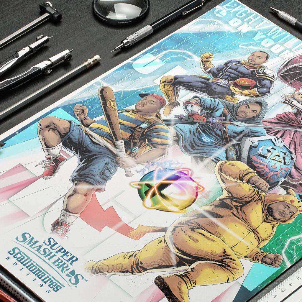 Super Smash Bros Illustration